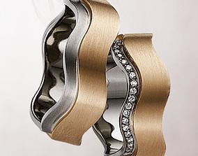 3D print model wedding ring 099