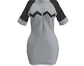 3D Jogging Short-sleeved Dress Marvelous designer