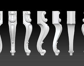 Furniture Legs 3d STL Model Relief for CNC set 015