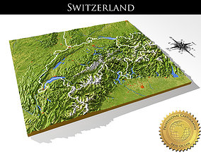 Switzerland High resolution 3D relief maps