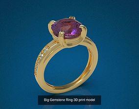 Big Gemstone Ring 3D model