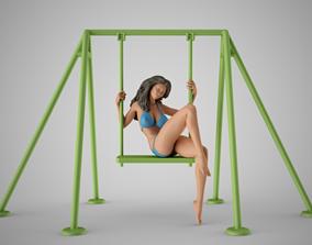 Girl on the Swing 3D print model
