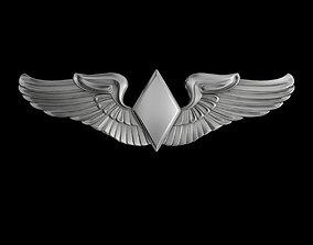 Women Airforce Service Pilots Wings Badge 3D