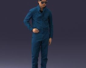 3D model SciFi man 0831