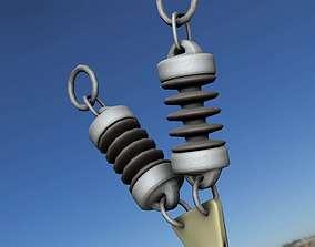 Electricity Poles Ceramic Insulator 11 - Object 3D asset