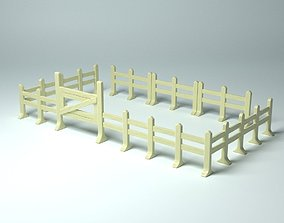 Game Props - Modular fences and gate 3D print model