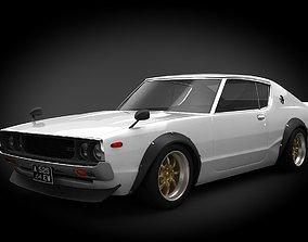 3D asset VR / AR ready Nissan Skyline 1973