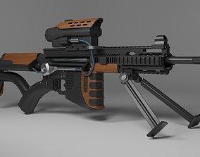 3D asset rifle weapon