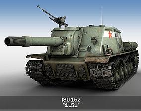 ISU-152 - 1151 -Soviet heavy self-propelled gun 3D model