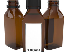 3D model bottle 100ml type11