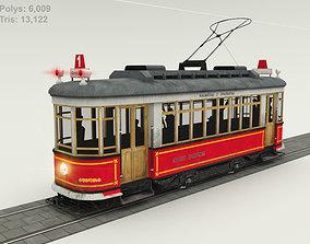 3D model VR / AR ready Old Tram