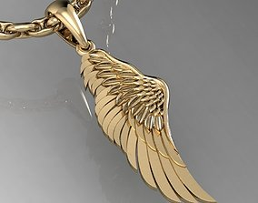 3D printable model pendant angel wing