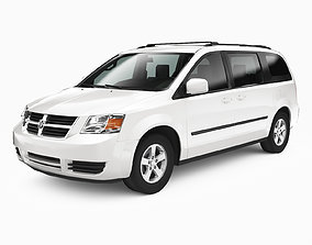 Dodge Grand Caravan 2009 3D asset