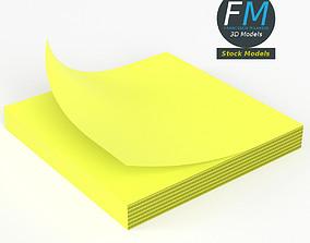 Memo note block 3D model