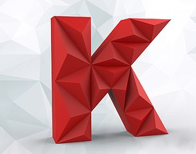 3D print model Lowpoly letter K