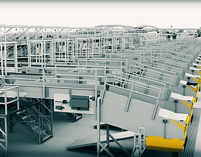 UPS automatic assembly line of famous express 3D model