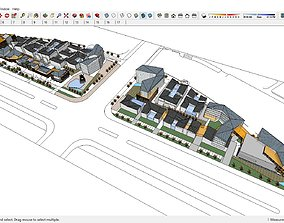 Sketchup 214 - Commercial street 3D model