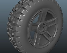 4x4 Wheel and 3 damage stages 3D print model