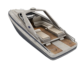 3D asset Motorboat - Speedboat