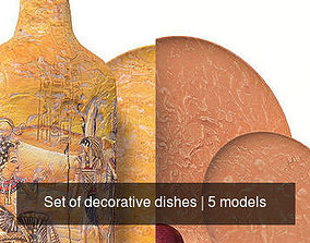 Set of decorative dishes 3D