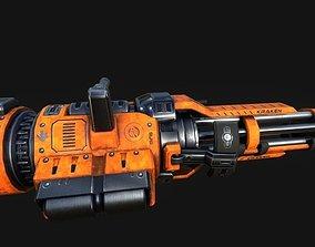 3D asset Minigun