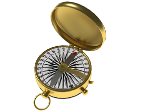 3D model game-ready compass discovery