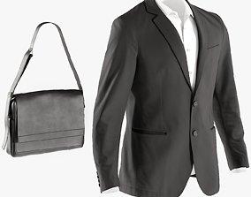 Mens Blazer with Shirt Bag 6 3D model
