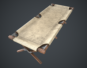 3D model American Army Folding Bed-WWII