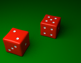 3D model Red Dice