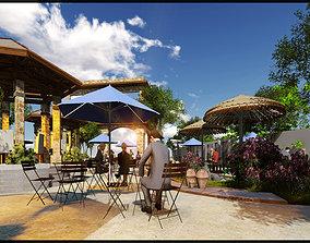 outdoor cafe 3D print model