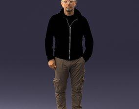 Syle man in khaki pants 1008 3d print ready