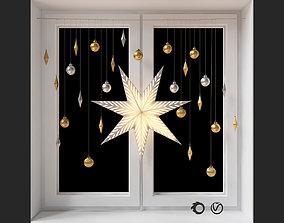 Swedish star - decorative set for decorating a 3D model