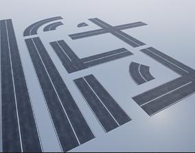 Modular Road Pack PBR 3D model