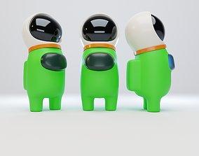 3D model Among Us Astronaut Helmet Character
