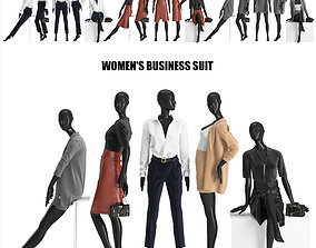 womens business suits 3D model