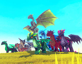 3D asset Elemental Dragon