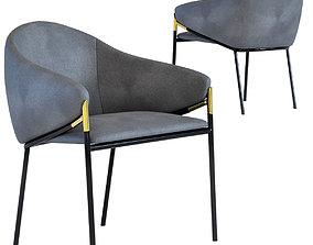 3D model Chair with Armrest Boulevard