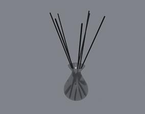 Aroma Sticks in Glass 3D asset