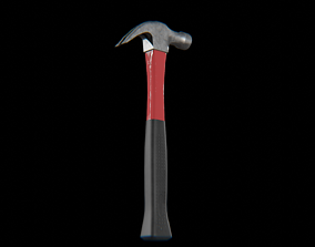 3D asset Claw Hammer 450g brushed