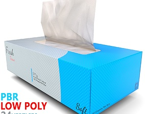 3D asset Facial Tissue Box