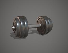 Dumbbell Iron Weight Gym Equipment 3D model