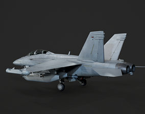 USA Navy EA-18G Growler electronic warfare 3D model