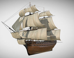 3D asset HMS Vanguard Sailing ship