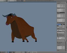 3D asset Classic Bull model in blender