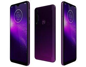 3D Motorola One Macro Ultra violet
