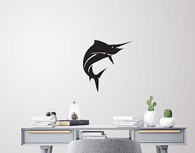 Sail fish for wall decoration 3D printable model