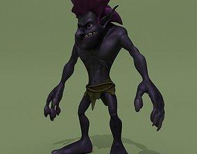Cartoon Troll Purple 3D