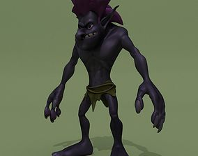 Cartoon Troll Purple 3D