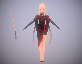 3D model DragonGirl - LowPoly Game Ready