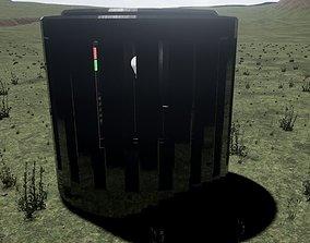 3D asset Elevator cabin round